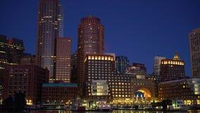 Timelapse de Boston do centro no nascer do sol video estoque