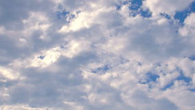 Timelapse de ciel nuageux Photo stock