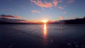 Timelapse de coucher du soleil de ressort clips vidéos