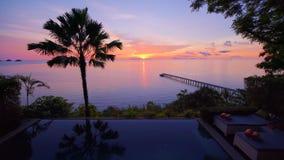 Timelapse de coucher du soleil en Koh Samui, Thaïlande dans 4k banque de vidéos
