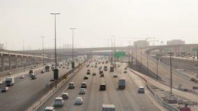 Timelapse de Dubai de la carretera del puerto deportivo de Dubai metrajes