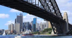 Timelapse de horizon van Sydney, Australië en Havenbrug 4K stock video