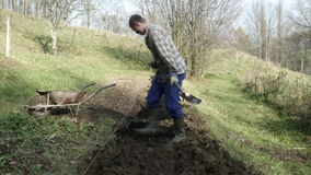 Timelapse de jeune jardinier travaillant dans le jardin clips vidéos
