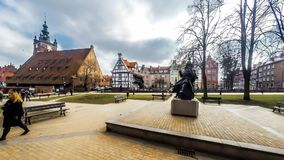 Timelapse de Johannes Hevelius Monument almacen de metraje de vídeo