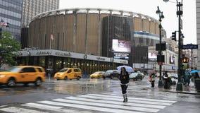 timelapse de 4K UltraHD de Madison Square Garden e de Penn Station, New York video estoque