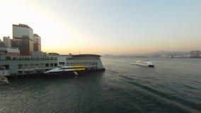 Timelapse de la cacerola de Hong Kong almacen de metraje de vídeo