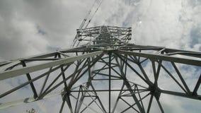 Timelapse de la central eléctrica de la electricidad almacen de metraje de vídeo