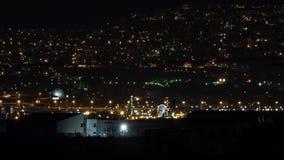 Timelapse de la ciudad de la noche almacen de metraje de vídeo