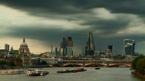 Timelapse de la ciudad de Londres almacen de metraje de vídeo