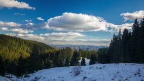 Timelapse de la montaña del invierno almacen de video