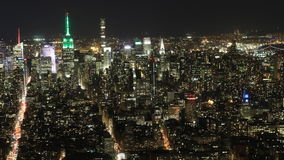 timelapse de la noche de 4K UltraHD de Manhattan más baja almacen de video
