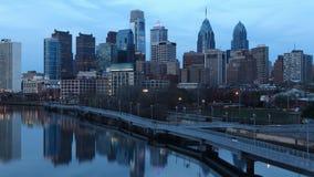 timelapse de la noche de 4K UltraHd en Philadelphia, Pennsylvania almacen de video