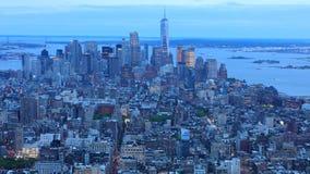 timelapse de la noche del día de 4K UltraHD de Manhattan céntrica almacen de metraje de vídeo