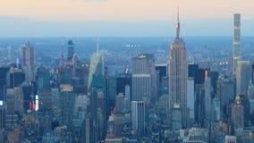timelapse de la noche del día de 4K UltraHD de Manhattan más baja metrajes