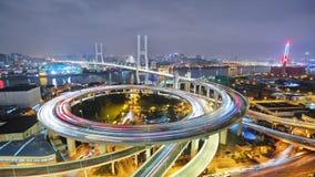Timelapse de la noche Shangai almacen de video