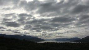 Timelapse de la nube sobre parque nacional en Chile almacen de metraje de vídeo