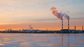 Timelapse de la pollution atmosphérique dans la ville clips vidéos