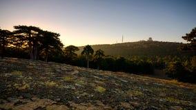 Timelapse de la puesta del sol de Troodos almacen de metraje de vídeo