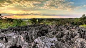 Timelapse de la puesta del sol de Tsingy almacen de metraje de vídeo