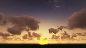 Timelapse de la salida del sol, noche al día almacen de metraje de vídeo