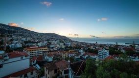 Timelapse de lever de soleil de la Madère Funchal banque de vidéos