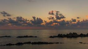 Timelapse de lever de soleil de mer banque de vidéos