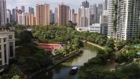 Timelapse de los edificios de Singapur almacen de video