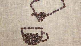 Timelapse de los granos de café metrajes