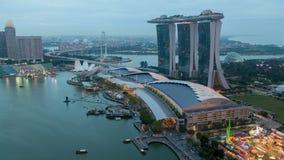Timelapse de Marina Bay Sand de la puesta del sol de Singapur almacen de video