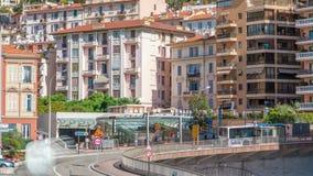 Timelapse de Monte Carlo Railway Station Gare de Monaco, principauté du Monaco clips vidéos