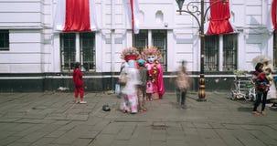 Timelapse de Ondel-ondel en la ciudad vieja de Jakarta almacen de video
