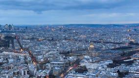 Timelapse de Paris da skyline vídeos de arquivo