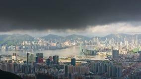 Timelapse de paysage urbain de Hong Kong banque de vidéos