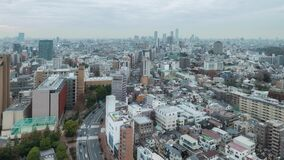 Timelapse de paysage urbain de nuit de Tokyo banque de vidéos
