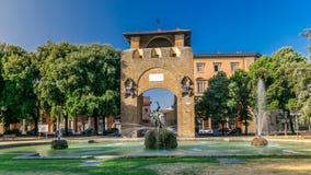 Timelapse de Porta San Gallo no della Liberta da praça Destino europeu turístico popular Arquitectura da cidade de Florença em o  vídeos de arquivo
