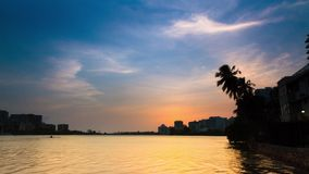 Timelapse de Puerto Rico Sunset Lagoon video estoque