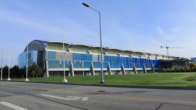 Timelapse de Richmond Olympic Oval en Columbia Británica, Canadá 4K almacen de video