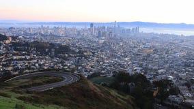 Timelapse de San Francisco, Califórnia no nascer do sol 4K filme
