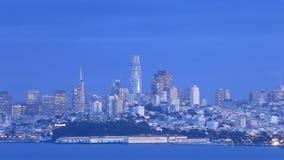 Timelapse de San Francisco como a escuridão cai 4K video estoque