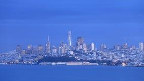 Timelapse de San Francisco como a noite cai 4K filme