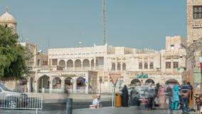 Timelapse de Souq Waqif en Doha, Qatar metrajes