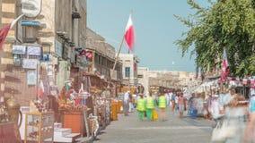Timelapse de Souq Waqif en Doha, Qatar almacen de video