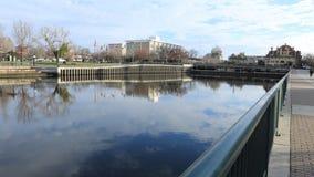 Timelapse de Stockton, Califórnia pelo lago 4K Mcleod vídeos de arquivo
