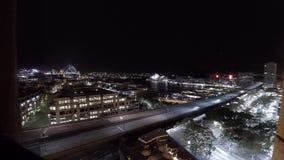 Timelapse de Sydney Harbor en la noche almacen de metraje de vídeo