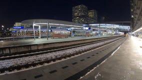 Timelapse de trainstation Utrecht centraal banque de vidéos
