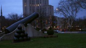 Timelapse de um cânone como visto no PA de Oakland, perto da universidade de Pittsburgh filme