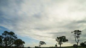 Timelapse de um céu bonito sobre uma cena da área rural video estoque