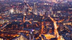 Timelapse de uma cidade na noite video estoque