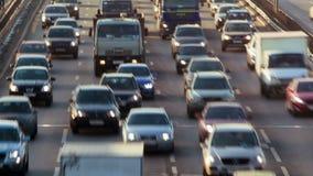 Timelapse de un tráfico de ciudad almacen de metraje de vídeo