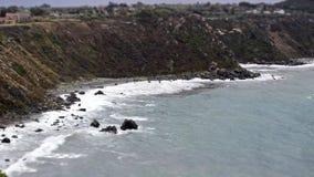 Timelapse de una playa mediterránea en Milazzo, Sicilia, Italia metrajes